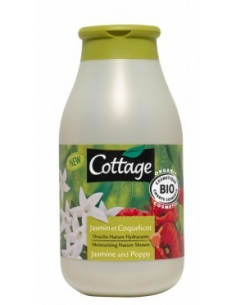 "Gel de dus ""98% natural"" Flori Iasomie & Mac 250 ml - Cottage"