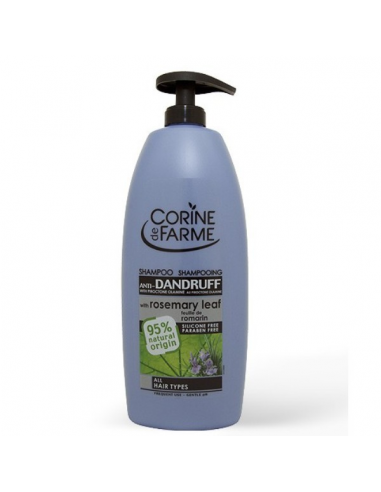 Corine de farme - Sampon anti-matreata cu extract de ceai alb si frunze de rozmarin 750 ml