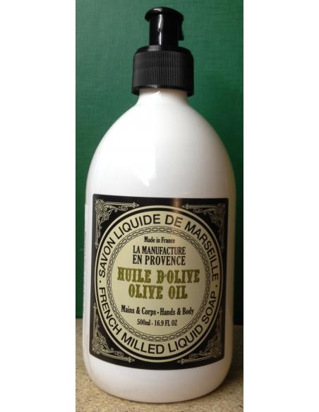 Sapun lichid cu Ulei de Masline de Marsilia 500 ml - La Manufacture en Provance