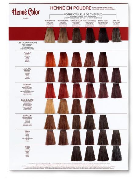 """""""MARON INCHIS"""" - Color praf hena BRUN 100 g -Henne Color"""