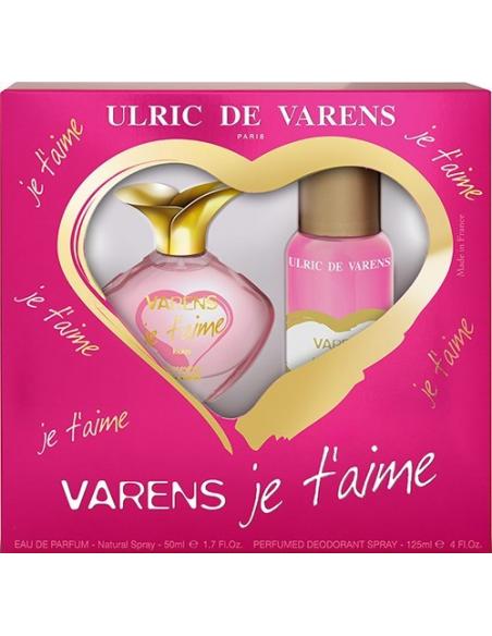 Caseta Je T'aime de Varens EDP 50 ml + Deo Spray Parfum 125 ml - Ulric de Varens
