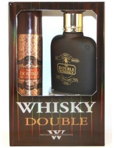 Caseta Double Whisky EDT 100 ml + Deo Spray 75 ml - Evaflor